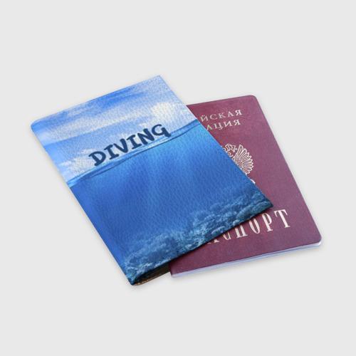 Обложка для паспорта матовая кожа  Фото 03, Дайвинг