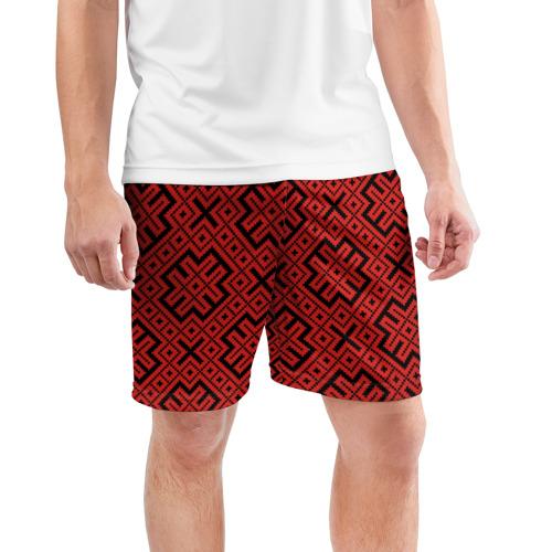 Мужские шорты 3D спортивные  Фото 03, Обережная Вышивка
