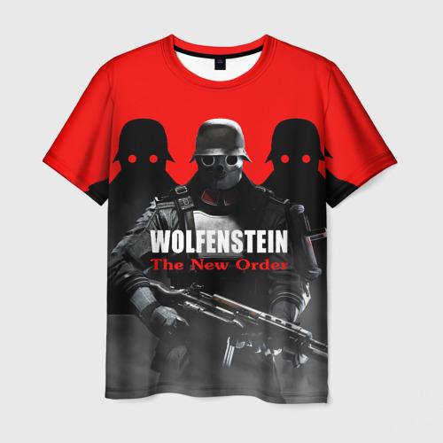 Мужская футболка 3D 'Wolfenstein: The New Order'