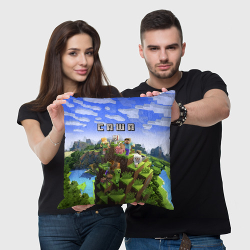 Подушка 3D Саша - Minecraft Фото 01