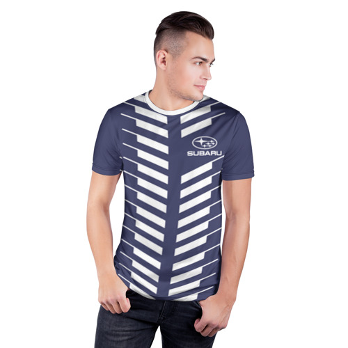 Мужская футболка 3D спортивная  Фото 03, SUBARU SPORT