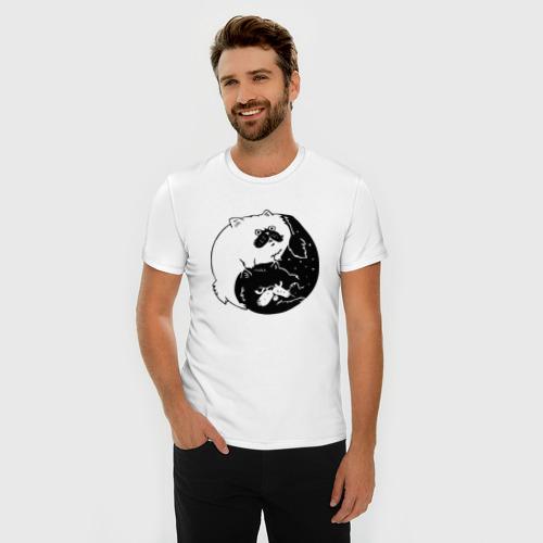 Мужская футболка премиум  Фото 03, Инь и ян