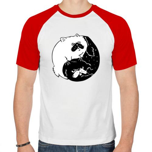 Мужская футболка реглан  Фото 01, Инь и ян