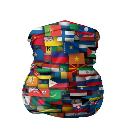 Бандана-труба 3D  Фото 01, Флаги всех стран
