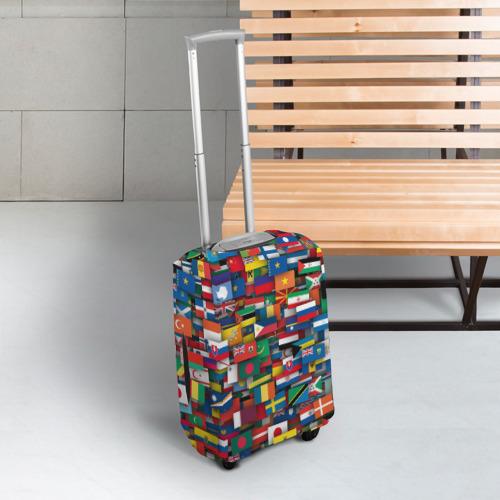 Чехол для чемодана 3D Флаги всех стран Фото 01
