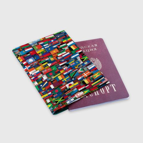 Обложка для паспорта матовая кожа  Фото 03, Флаги всех стран