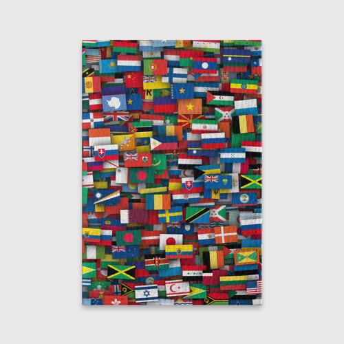 Обложка для паспорта матовая кожа  Фото 01, Флаги всех стран