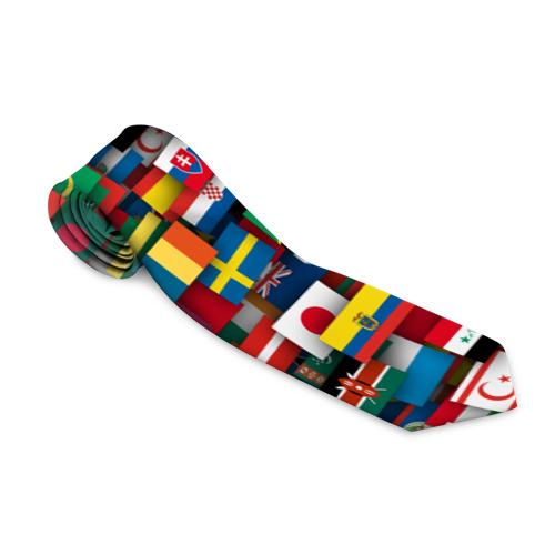 Галстук 3D Флаги всех стран