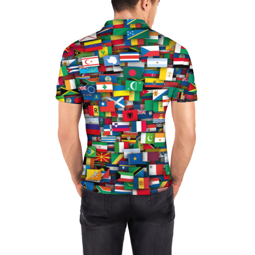 Мужская рубашка поло 3D  Фото 04, Флаги всех стран