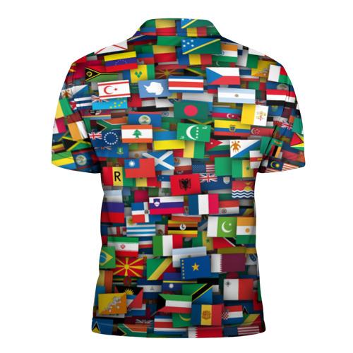 Мужская рубашка поло 3D  Фото 02, Флаги всех стран