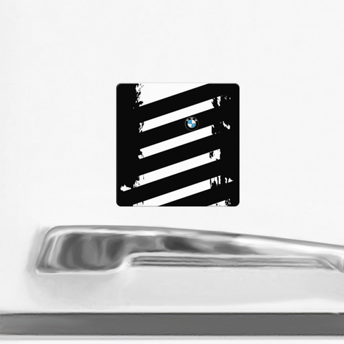 Магнит виниловый Квадрат  Фото 02, BMW SPORT