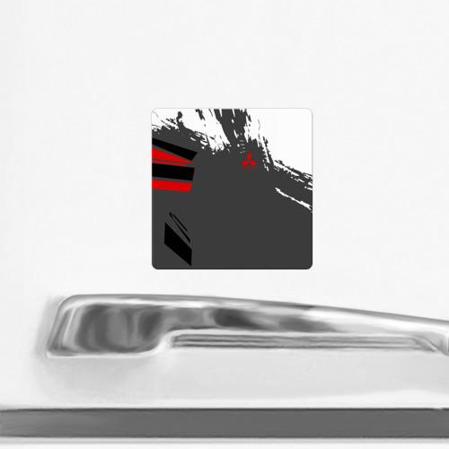 Магнит виниловый Квадрат  Фото 02, MITSUBISHI SPORT