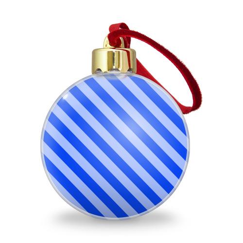 Ёлочный шар с блестками  Фото 01, В полоску