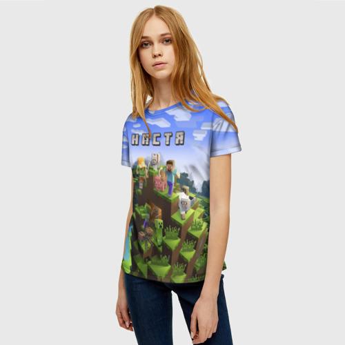 Женская футболка 3D Настя - Minecraft Фото 01