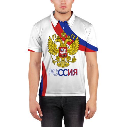 Мужская рубашка поло 3D  Фото 03, Россия Триколор