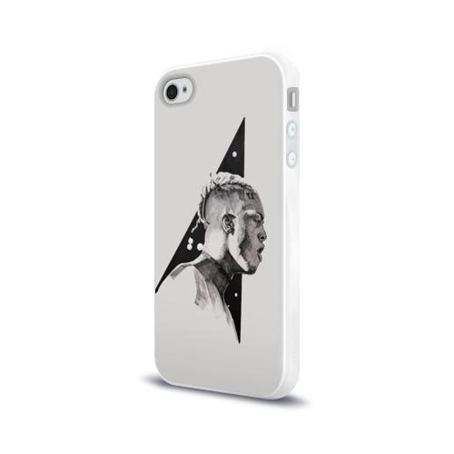 Чехол для Apple iPhone 4/4S силиконовый глянцевый  Фото 03, XXXtentacion