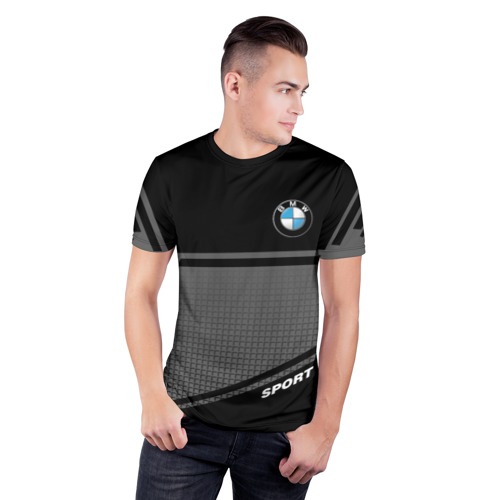 Мужская футболка 3D спортивная BMW SPORT    Фото 01