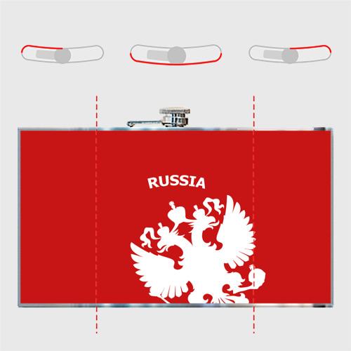 Фляга  Фото 05, RUSSIA Red&White