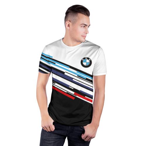 Мужская футболка 3D спортивная BMW BRAND COLOR  Фото 01