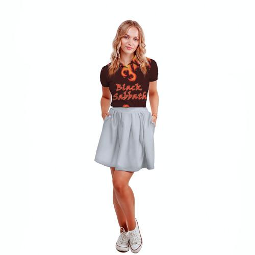Женская рубашка поло 3D  Фото 04, Black Sabbath