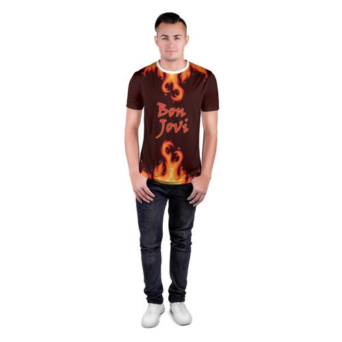 Мужская футболка 3D спортивная Bon Jovi Фото 01
