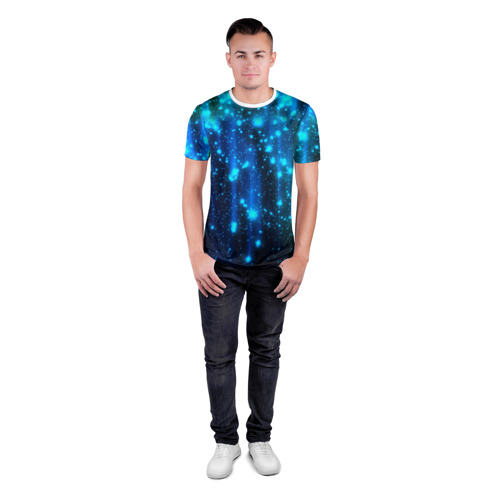 Мужская футболка 3D спортивная Огоньки Фото 01