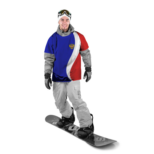 Накидка на куртку 3D Герб РФ Триколор