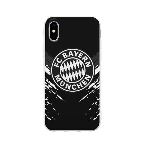 Чехол для Apple iPhone X силиконовый матовый BAYERN MUNCHEN SPORT