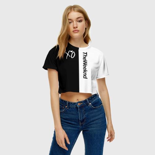 Женская футболка 3D укороченная  Фото 04, The Weeknd