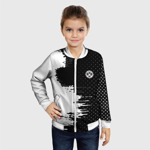 Детский бомбер 3D  Фото 06, Borussia uniform black 2018