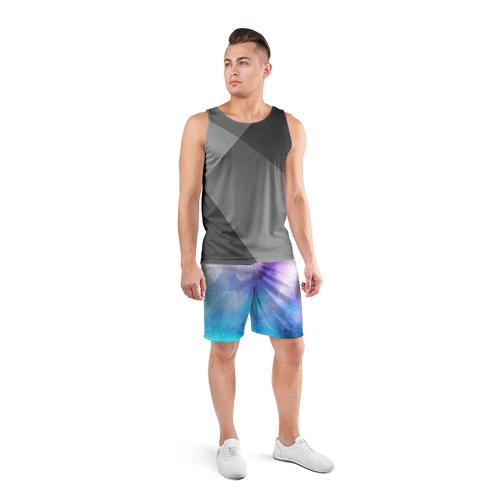 Мужские шорты 3D спортивные  Фото 04, Акварель