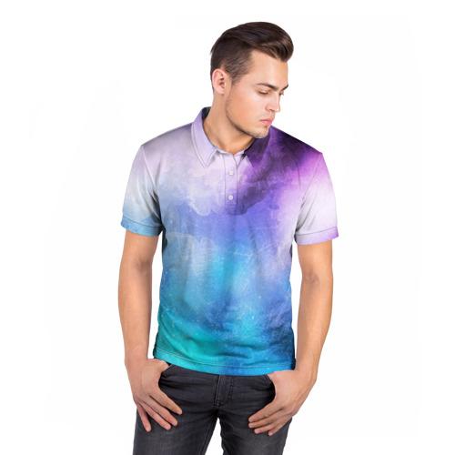 Мужская рубашка поло 3D  Фото 05, Акварель