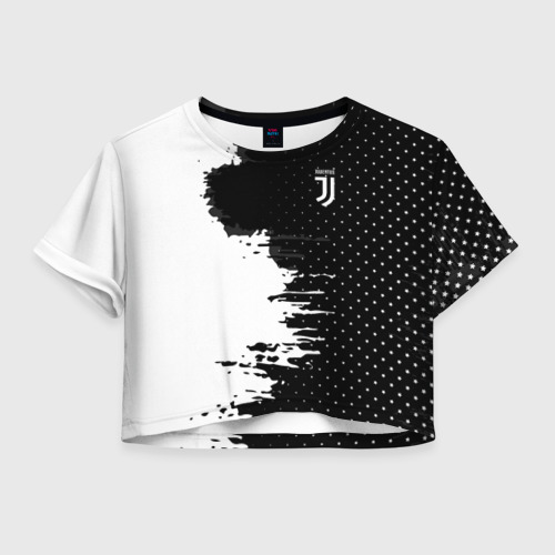 Женская футболка Cropp-top Juventus uniform black 2018