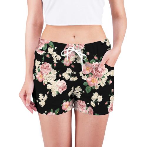 Женские шорты 3D  Фото 03, Flowers Pattern