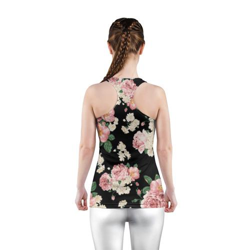 Женская майка 3D спортивная  Фото 04, Flowers Pattern