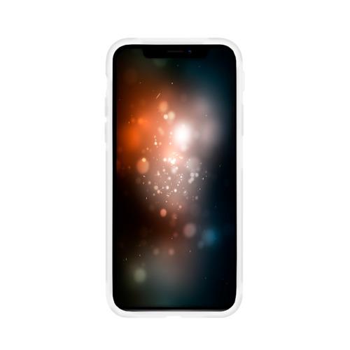 Чехол для Apple iPhone X силиконовый матовый Кружевной узор  Фото 01