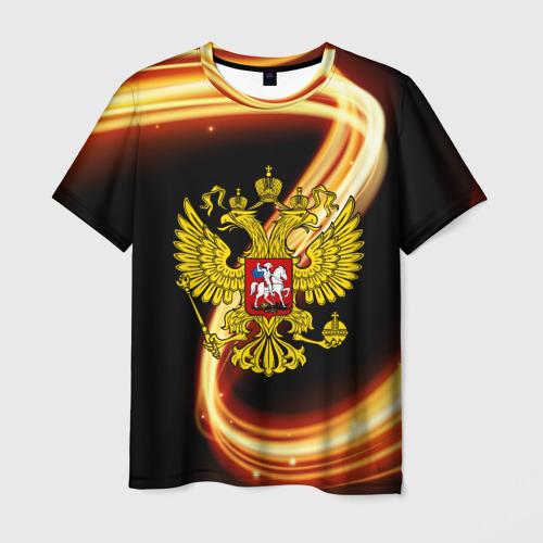 Мужская футболка 3D  Фото 03, Герб РФ collection line