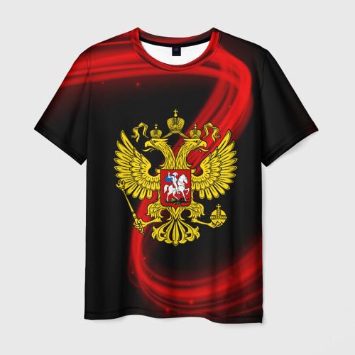 Мужская футболка 3D Герб РФ collection abstract