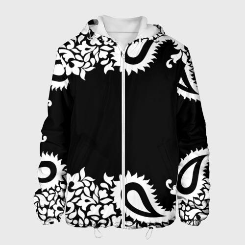 Мужская куртка 3D  Фото 01, Black&white Ornament