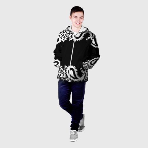 Мужская куртка 3D  Фото 03, Black&white Ornament