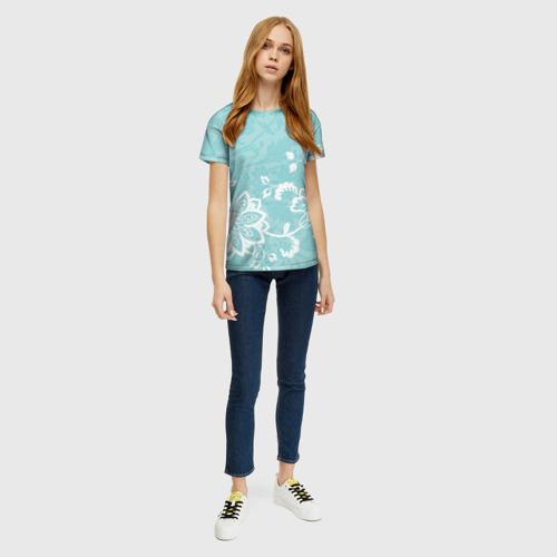 Женская футболка 3D Кружевные цветы Фото 01