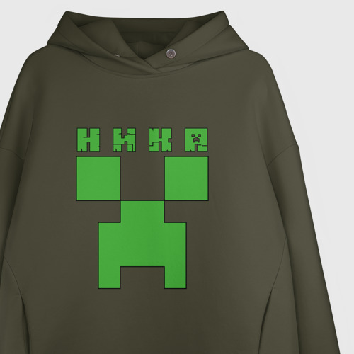 Женское худи Oversize хлопок Ника - Minecraft Фото 01
