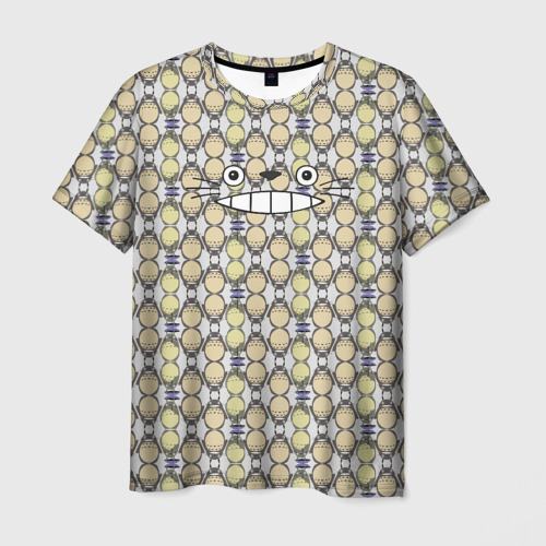 Мужская футболка 3D  Фото 01, Тоторо улыбка