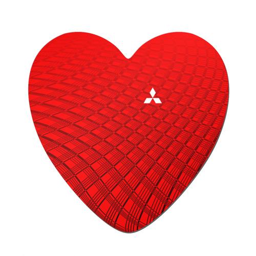 Магнит виниловый сердце  Фото 01, Mitsubishi sport