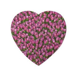 Пазл магнитный сердце 75 элементовРозовые тюльпаны