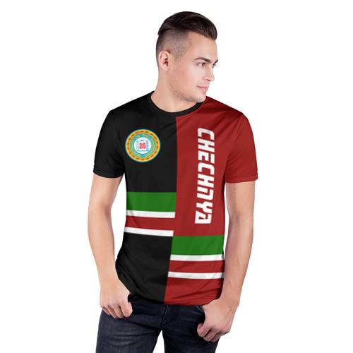 Мужская футболка 3D спортивная CHECHNYA (Чечня) Фото 01