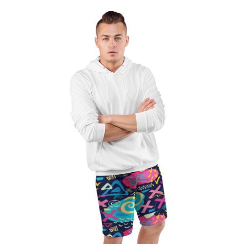 Мужские шорты 3D спортивные  Фото 05, Детский поп арт