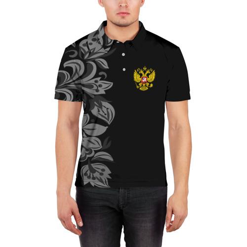 Мужская рубашка поло 3D  Фото 03, Russia Pattern Collection