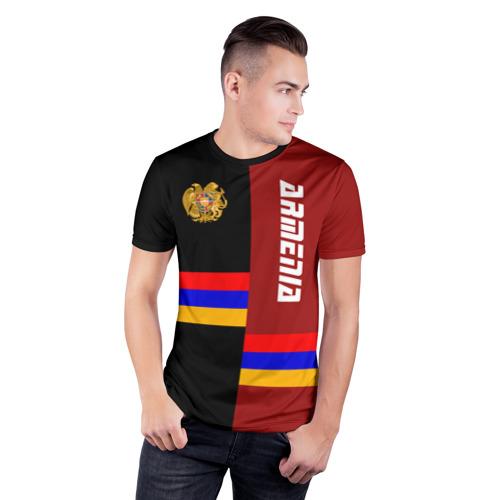 Мужская футболка 3D спортивная  Фото 03, ARMENIA (Армения)