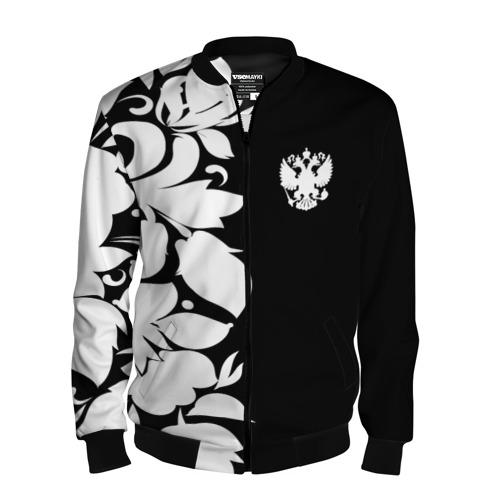 Мужской бомбер 3D Russia Black&White Style